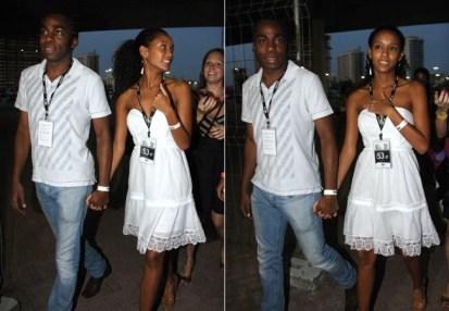 Taís Araujo e Lázaro Ramos arriving at the HSBC Arena in Rio de Janeiro in 2010 to see a show of American singer Beyoncé