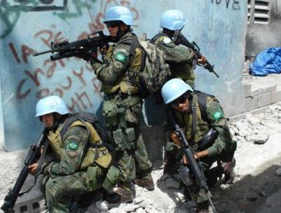 United Nations/Brazilian troops in Haiti