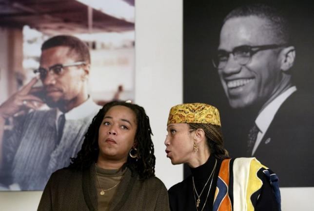 File photo of Attallah Shabazz and Malaak Shabazz, two of the six daughters of the late Malcolm X