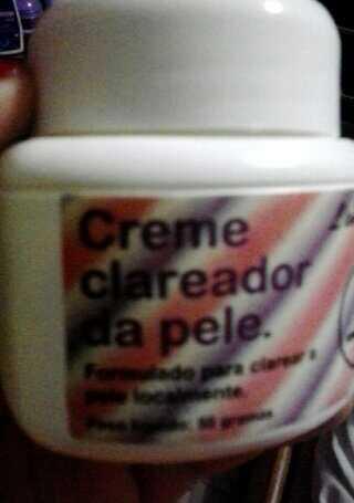 creme clareador da pele - skin lightening cream