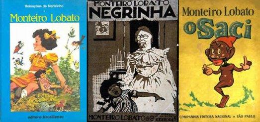 Monteiro Lobato books Reinações de Narizinho, Negrinha and O Saci