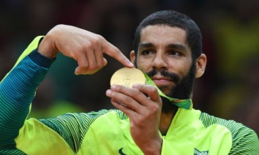 Wallace, um dos melhores jogadores da campanha vitoriosa do vôlei brasileiro nos Jogos do Rio