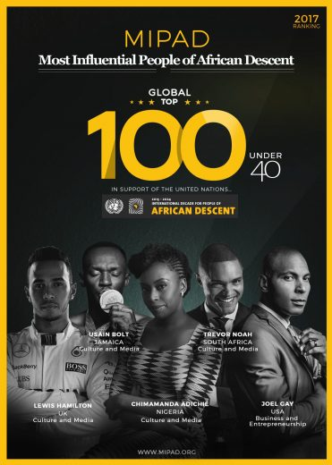 Lázaro, Taís, Adriana - brasileiros estão entre 100 negros mais influentes - MIPAD