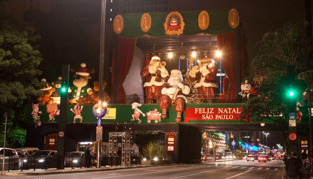 Praça de Natal na Avenida Paulista acontece até dia 25 de dezembro