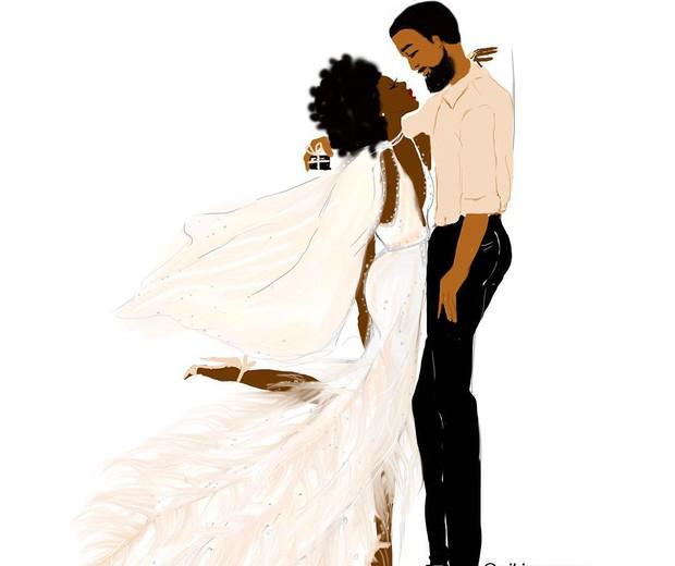 Nicholle Kobi - a ilustradora francesa já foi chamada de racista por colocar casais negros como protagonistas de seus desenhos