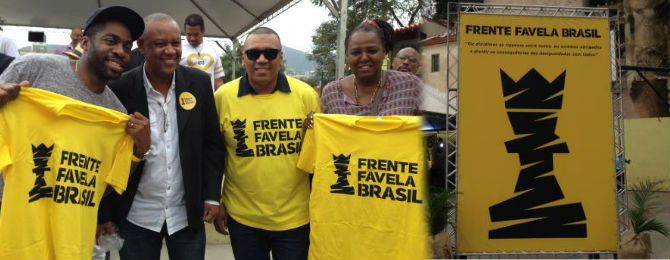 O ator Lázaro Ramos e os ativistas Celso Athayde, Preto Zezé e Eliana Custódio
