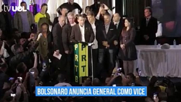 Bolsonaro oficializa general como vice - BECC BRASIL ÉTICO CONTRA CORRUPÇÃO (CC)