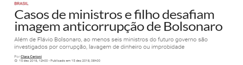 corruption Bolsonaro ministers