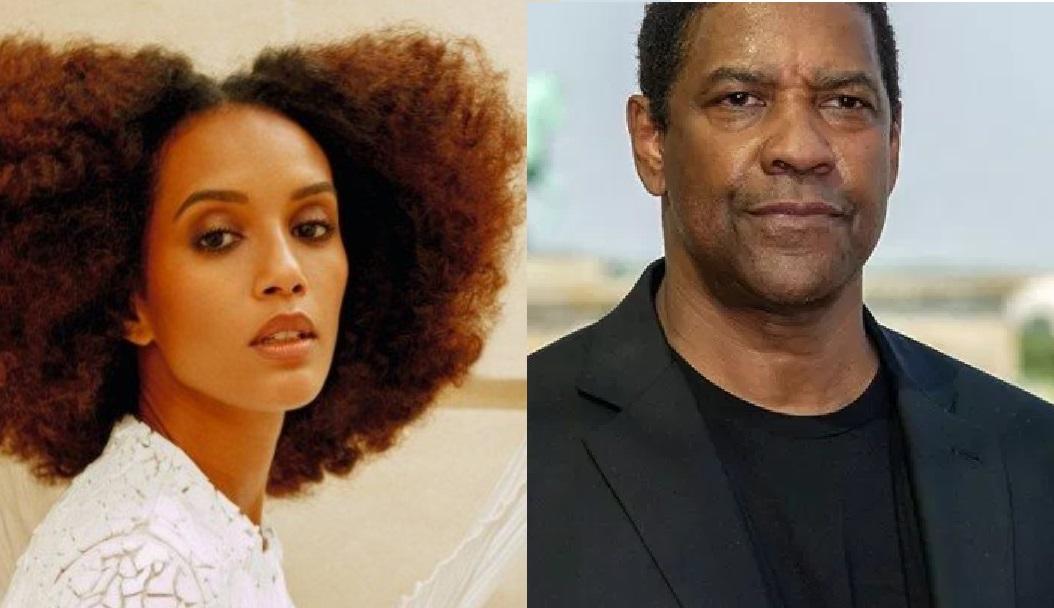 A atriz global Taís Araújo e Denzel Washington