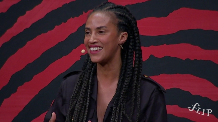 A escritora portuguesa Grada Kilomba, campeã em vendas na Flip 2019