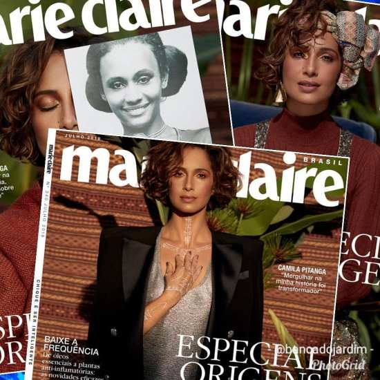 Camila Pitanga returns to TV and is featured on a Magazine Cover