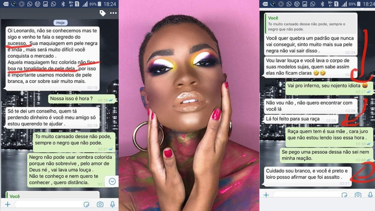 Makeup artist victim of racist comments after using black model in contest