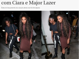 Iza Starts an International career and records with Major Lazer and Ciara