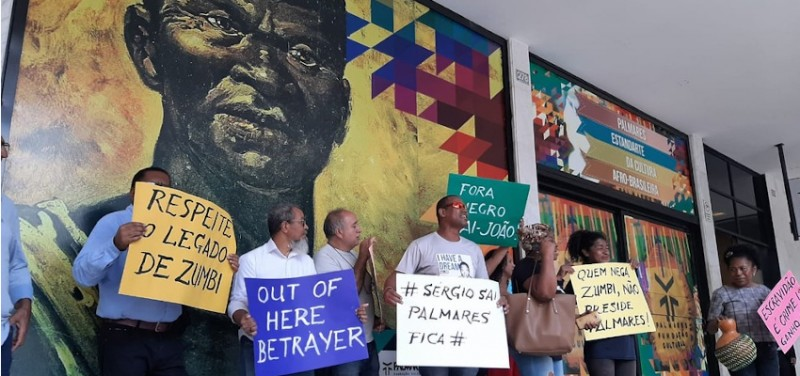 Members of black social movement occupy headquarters of the Palmares