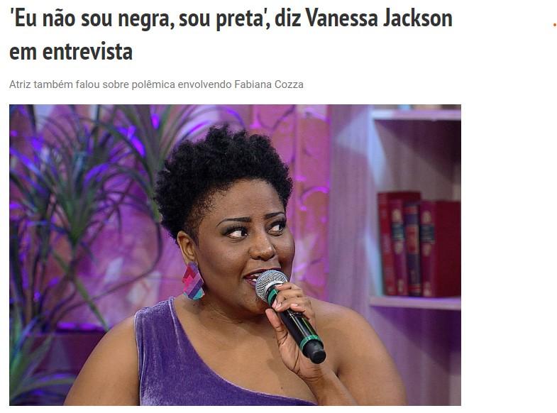 Vanessa Jackson - negra preta