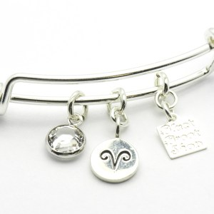 Diamond Aries Charm Bracelet