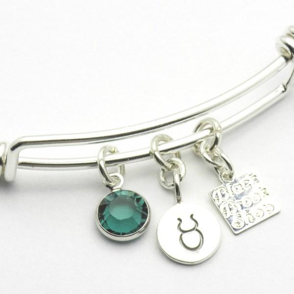 Emerald Taurus Charm Bracelet