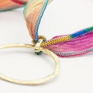 Vibrant Silk Ribbon Necklace