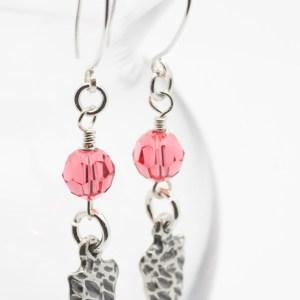 Pink Arrowhead Earrings