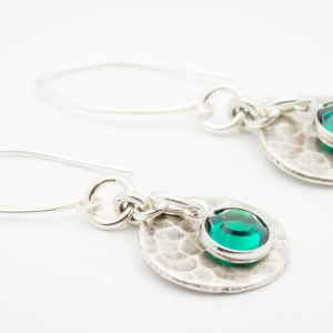 May Hammered Round Hill Tribe Silver Earrings