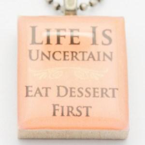 Eat Dessert First Necklace