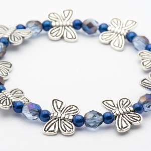 Blue Butterfly Stretch Bracelet