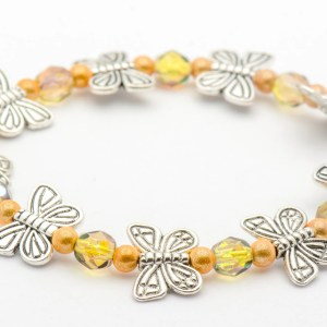 yellow butterfly bracelet