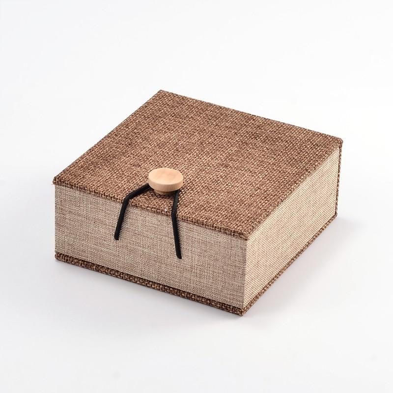 Burlap Bracelet Gift Box Wooden Box Black Brook Shop