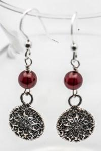 Sunflower Earrings   Sterling Silver Earrings - Black ...