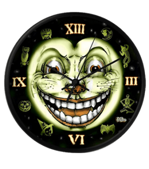 Black Cat 13 Halloween Clock