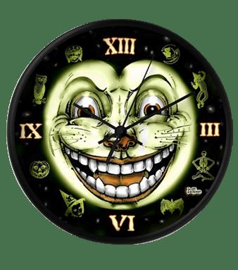 Black Cat 13 Halloween Clock