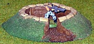 Mortar Pit 25mm-28mm scale