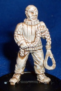 Fisherman with hook and chain