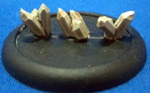 Jagged metal crystal clusters