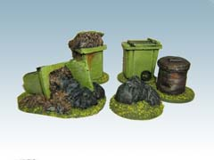 5x rubbish bins/ sacks.