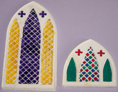 4 Stained Glass windows.