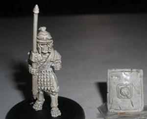 Skeleton Roman Legionary with Pilum & shield