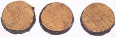 12x Brick Floor plain 25mm bases.