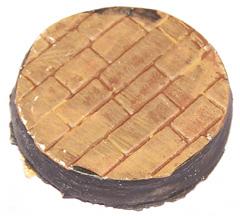 5x Brick Floor plain 40mm bases.