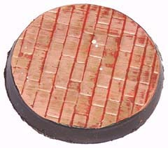 1x Brick Floor plain 60mm base.