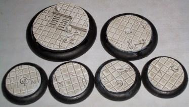 1x 50mm 1x 40mm 4x 30mm Laboratory Floor base inserts