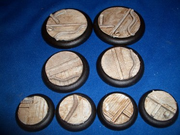 5x Modern Technical 40mm base inserts