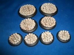 1x 50mm, 1x 40mm & 4x 30mm Skull Bases base inserts