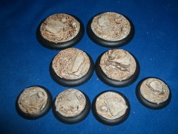 1x 50mm, 1x 40mm & 4x 30mm Sand and Slate base inserts