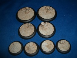 5x Wooden Plank Floor 40mm base inserts