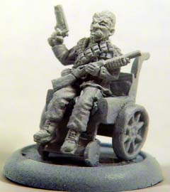 Veteran agent in wheelchair