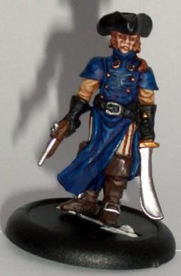 Pirate Captain in long coat gun and sword