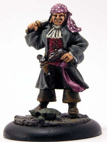 Pirate First Mate with sword behind his neck