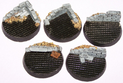 5x Ruined Buildings 40mm bases.