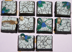 10x Ruined Temple 20mm bases